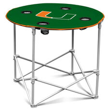 University of Miami Team Logo Round Folding Table
