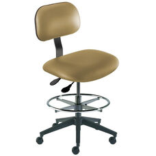 Quick Ship Bridgeport Series Chair with Adjustable Task Controls and Reinforced Composite Base - Medium Seat Height