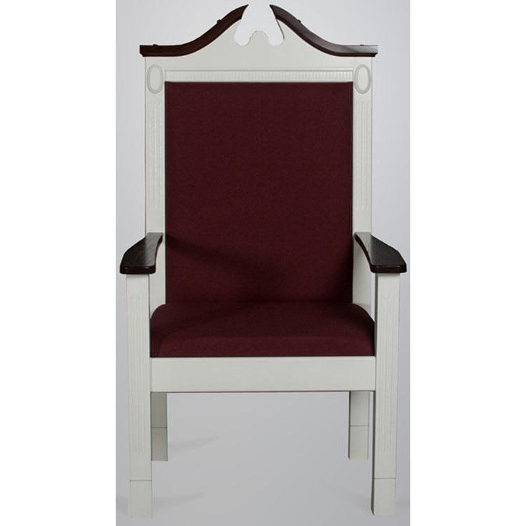 red oak colonial finish center pulpit chair