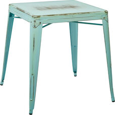 OSP Designs Bristow Antique Metal Table - Antique Sky Blue