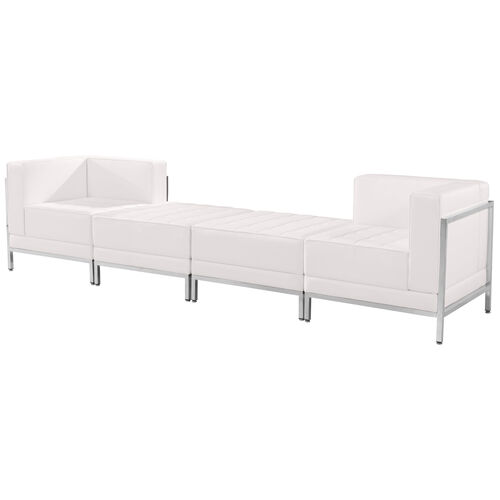 Our HERCULES Imagination Series Melrose White LeatherSoft 4 Piece Chair & Ottoman Set is on sale now.