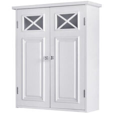 Dawson Wall Cabinet with Two Doors - White