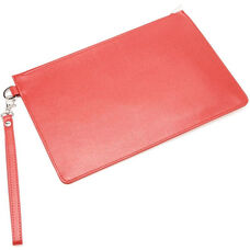 RFID Blocking Document Holder - Genuine Saffiano Genuine Leather - Red