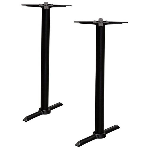 Valencia 2 Cast Iron Bar Table with Double Column Base - Black Powder Coat