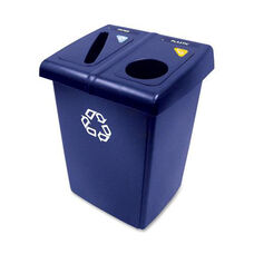 Rubbermaid Commercial Products Glutton 2 Stream Recycling Station - 24