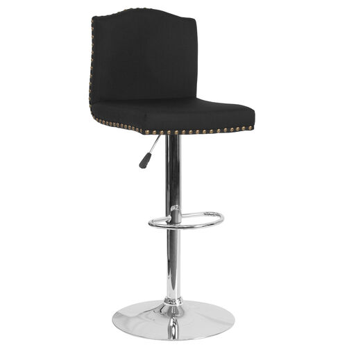 Our Bellagio Contemporary Adjustable Height Barstool with Accent Nail Trim in Black Fabric is on sale now.