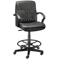 Art Director Adjustable Height Black Leather Executive Chair
