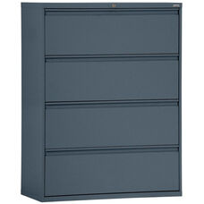 800 Series 30'' W x 19.25'' D x 53.25'' H Four Drawer Full Pull Lateral Files - Charcoal