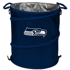 Seattle Seahawks Team Logo Collapsible 3-in-1 Cooler Hamper Wastebasket