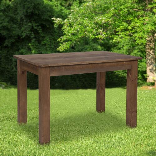 "46"" x 30"" Rectangular Solid Pine Farm Dining Table"