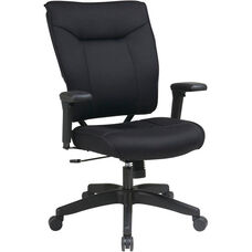 Space 37 Series Deluxe Mesh Seat and Back Managers Chair with 2-to-1 Synchro Tilt Control and Adjustable Arms - Black