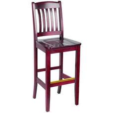 Bulldog Bar Stool - Wood Seat