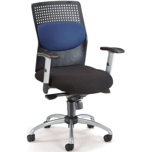 Our AirFlo Executive Task Chair with Silver Accents - Blue is on sale now.