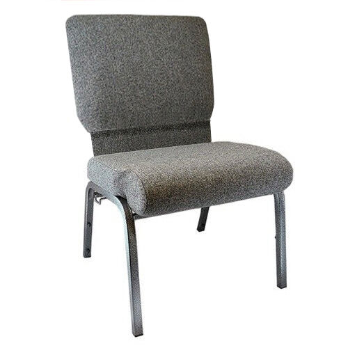 Our Advantage Charcoal Gray Church Chair with Book Rack 20.5 in. Wide is on sale now.