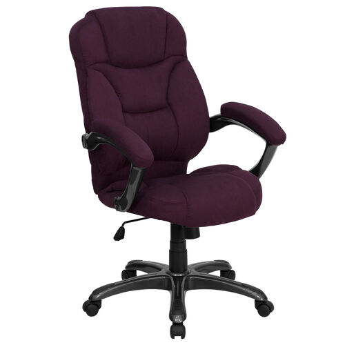 Our High Back Grape Microfiber Contemporary Executive Swivel Ergonomic Office Chair with Arms is on sale now.