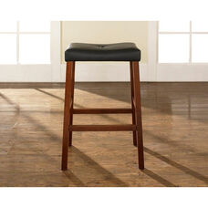 Upholstered Saddle Seat Bar Stool with 29