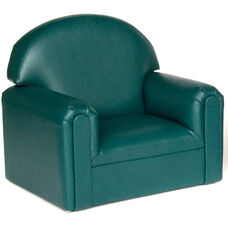 Just Like Home Toddler Size Overstuffed Vinyl Chair - Teal - 22