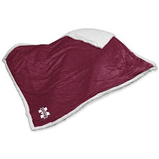 Mississippi State University Team Logo Sherpa Throw