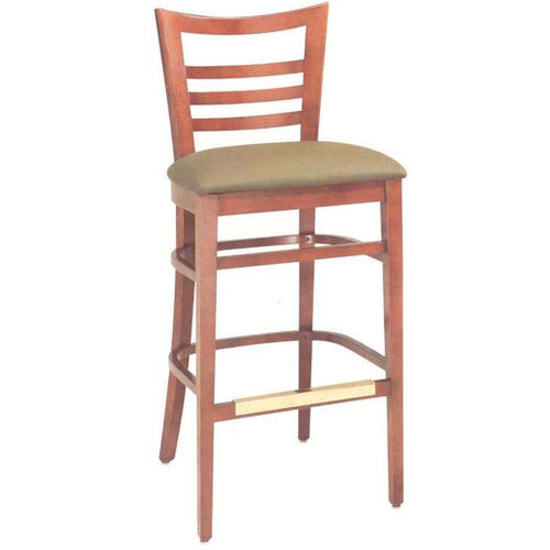 Our 1636 Bar Stool w/ Upholstered Seat & Brass Trim Footrest - Grade 1 is on sale now.