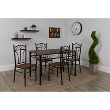 Lexington 5 Piece Mahogany Finish Dinette Set with Chairs