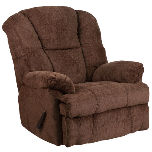 Our Contemporary Hillel Chocolate Chenille Rocker Recliner is on sale now.