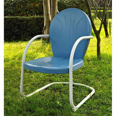 Griffith Metal Chair - Sky Blue Finish