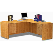 Honey Simple Workstation with Hanging Pedestals