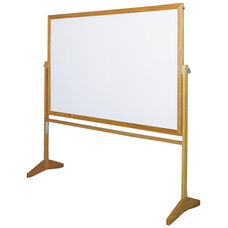Premiere Series Reversible Mobile MLC Markerboard and Tan NuCork with Wood Frame - 60