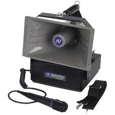 Wireless Half-Mile 50 Watt Hailer with Wired Handheld Microphone - 12