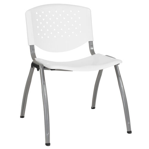Our HERCULES Series 880 lb. Capacity White Plastic Stack Chair with Titanium Gray Powder Coated Frame is on sale now.