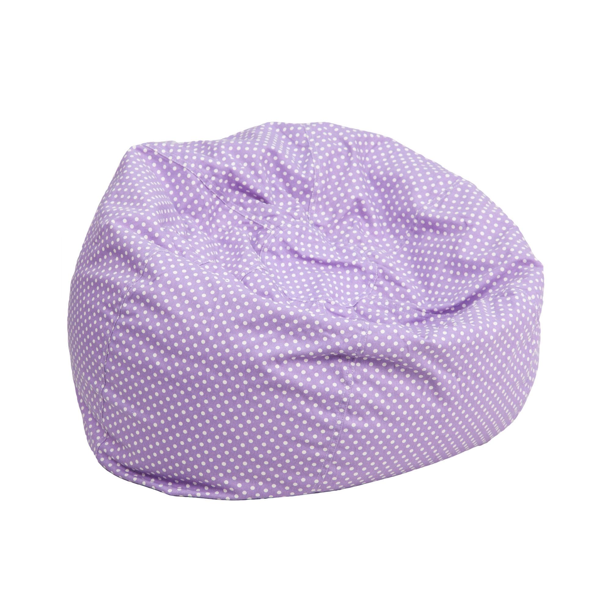 Lavender Dot Bean Bag Chair Dg Bean Small Dot Pur Gg