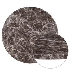 """24"""" Round Gray Marble Laminate Table Top"""