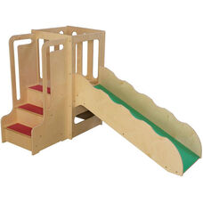 Wooden Mini Loft System with 3 Steps and Slide - 72