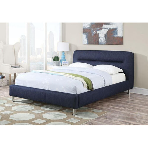 Our Adney Padded Denim Bed with Horizontal Tufted Headboard - Queen - Blue is on sale now.