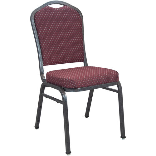 Our Advantage Premium Burgundy-patterned Crown Back Banquet Chair - Silver Vein is on sale now.