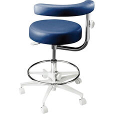 ST-2000 Series - Assistant Stool with Stitched Upholstery