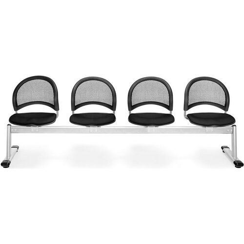 Our Moon 4-Beam Seating with 4 Fabric Seats - Black is on sale now.