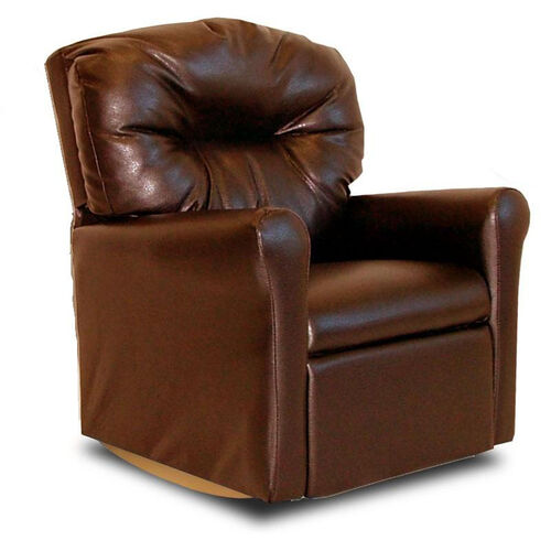 Our Kids Faux Leather Contemporary Rocker Recliner with Tufted Back - Pecan Brown is on sale now.