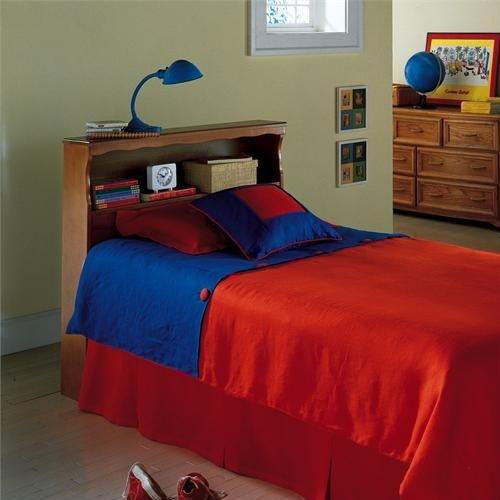 Our Barrister Wood Bookcase Headboard - Twin -Bayport Maple is on sale now.
