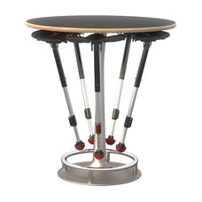 Focal™ Collision Table and Mogo Seat Bundle - Black Surface with Silver Base and Black Mogo Seats
