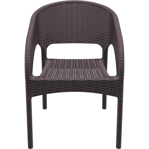 Our Panama Outdoor Wickerlook Resin Stackable Dining Arm Chair - Brown is on sale now.