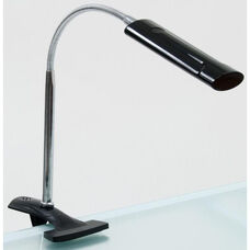 Contemporary Design Flexible Neck Diffused LED Art Lamp with USB Plug and Padded Clamp - Black