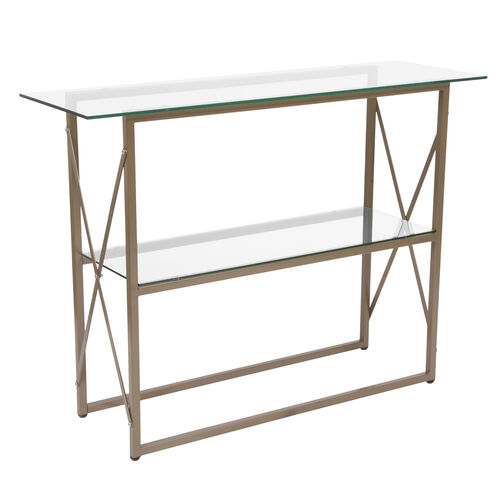 Our Mar Vista Collection Glass Console Table with Matte Gold Frame is on sale now.