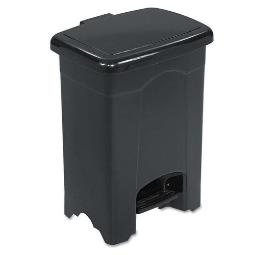 Our Safco® Step-On Receptacle - Rectangular - Plastic - 4gal - Black is on sale now.