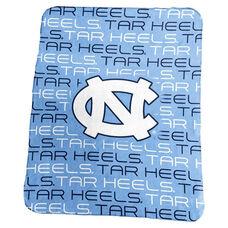University of North Carolina Team Logo Classic Fleece Throw