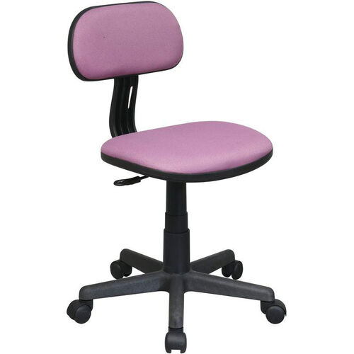 OSP Designs Armless Computer Task Chair with Seat Height Adjustment and Casters - Purple