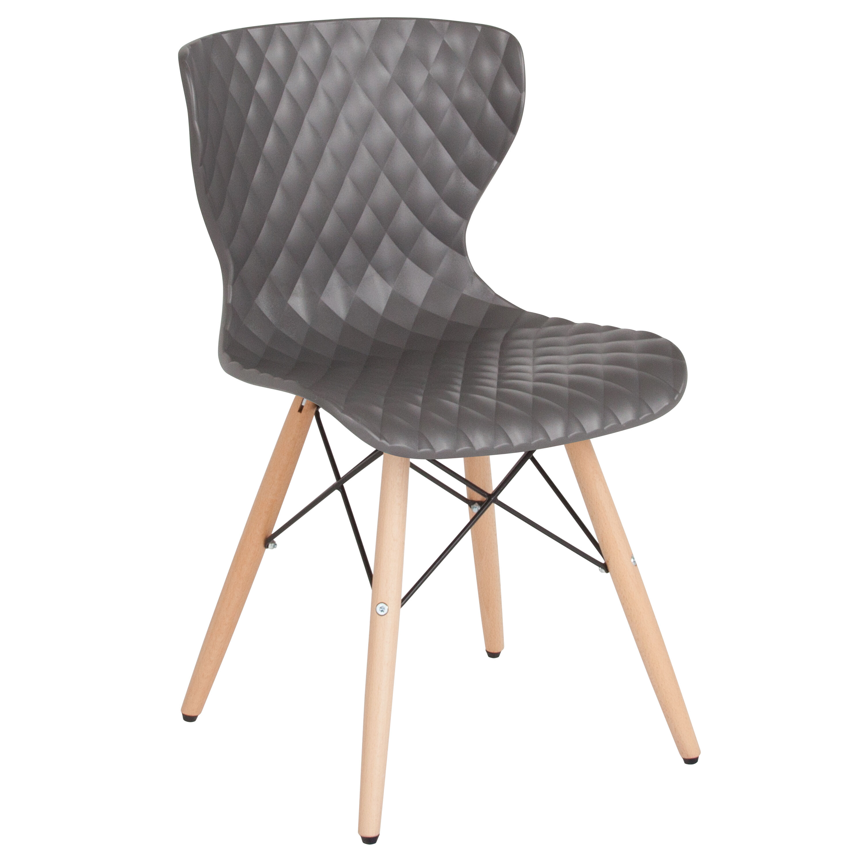 Our Bedford Contemporary Design Gray Plastic Chair With Wooden Legs Is On  Sale Now.