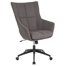 Barcelona Home and Office Upholstered High Back Chair in Dark Gray Fabric