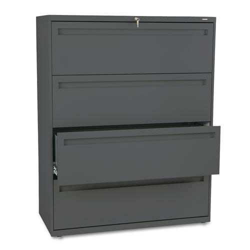 Our HON® 700 Series Four-Drawer Lateral File - 42w x 19-1/4d - Charcoal is on sale now.