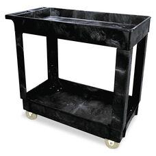 Rubbermaid® Commercial Service/Utility Cart - Two-Shelf - 17w x 38d x 31h - Black